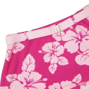 JAG Stretchy Mini Skirt Pink Floral L